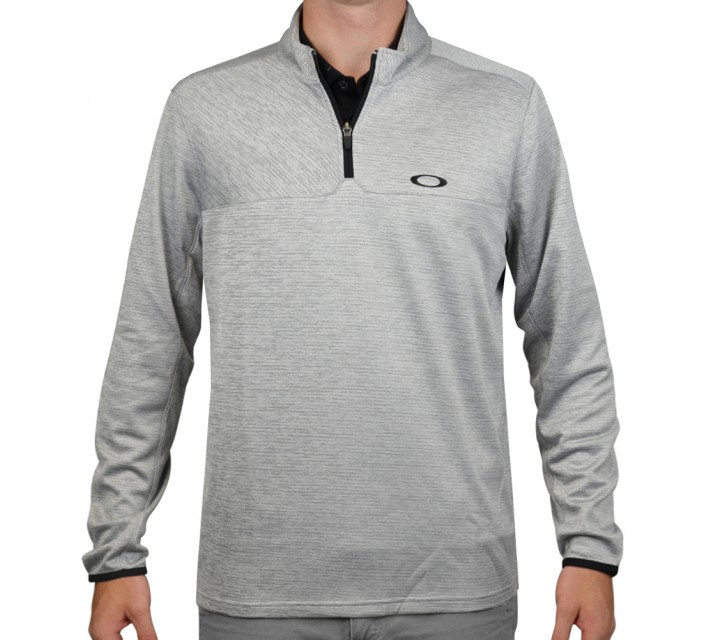 OAKLEY SCORES 1/4-ZIP PULLOVER STONE GREY - AW15