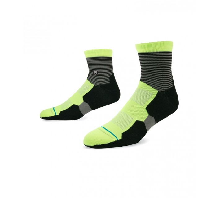 STANCE GOLF SOCKS SCRATCH QUARTER LIME - AW15