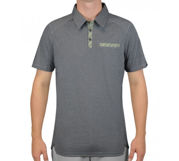 OAKLEY SHIELDS GOLF POLO GRAPHITE - AW15