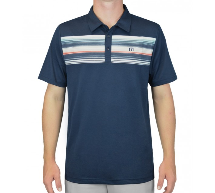 TRAVISMATHEW GOLF SHIRT SIERAK IRIS - AW15