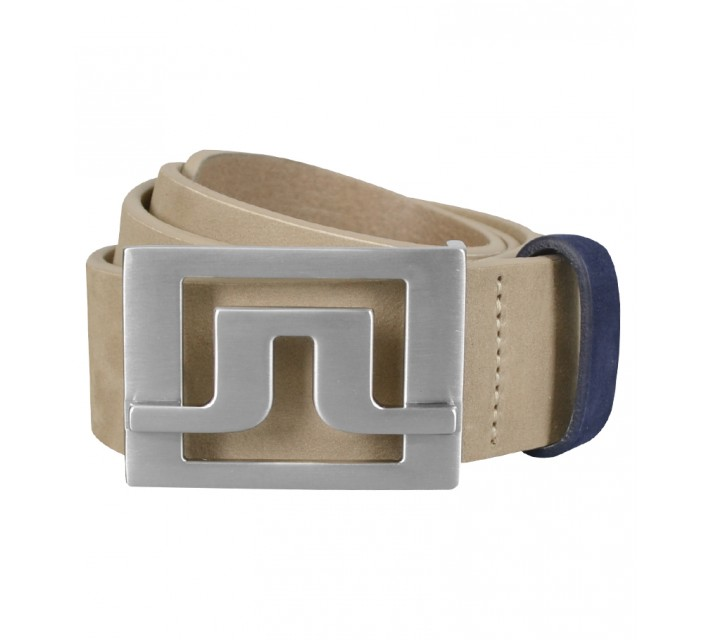 J. LINDEBERG SLATER 40 BRUSHED LEATHER BELT BEIGE - SS15