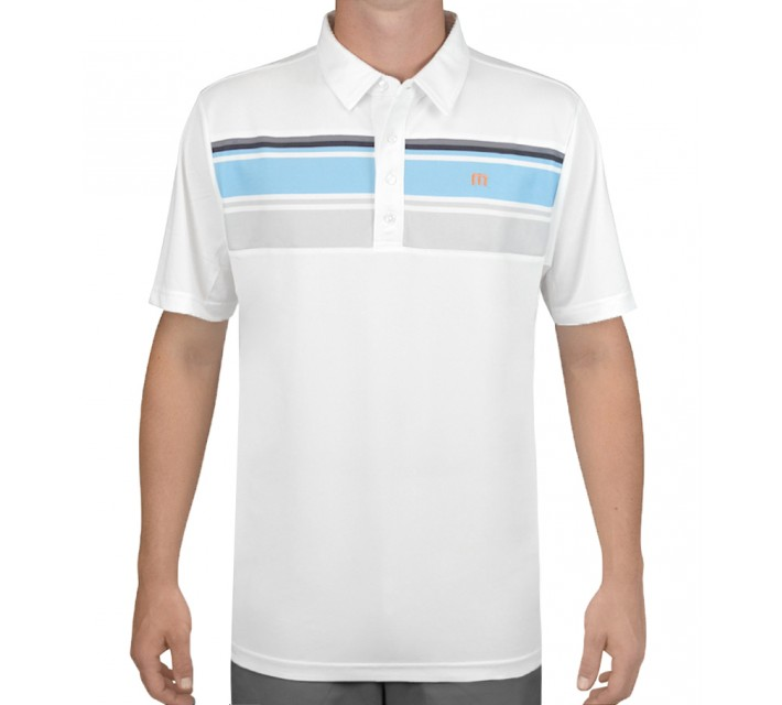TRAVISMATHEW GOLF SHIRT SORKNESS WHITE - AW15