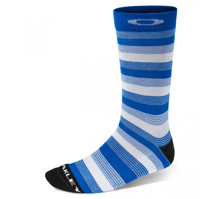 OAKLEY 1/4 CREW GOLF PRINT SOCK BRILLIANT BLUE - SS15