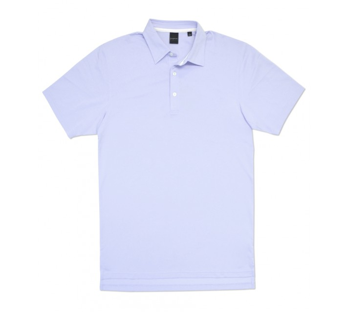 DUNNING SOLID PIQUE POLO MID DUSK - AW16