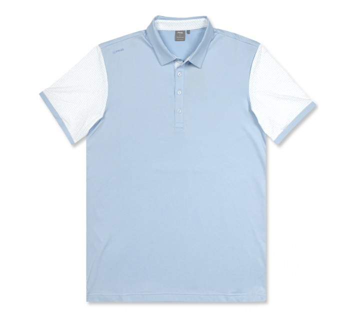PING SOTTO POLO CERULEAN/WHITE - AW16