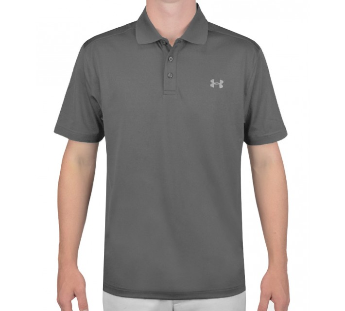 UNDER ARMOUR PERFORMANCE GOLF POLO GRAPHITE - SS16