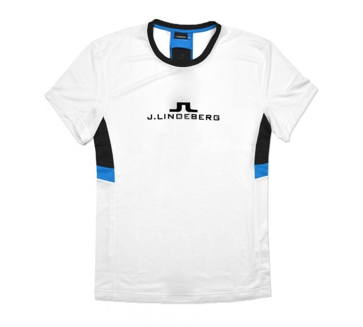 J. LINDEBERG FUTURE SPORT BLOCKED TEE WHITE - SS16