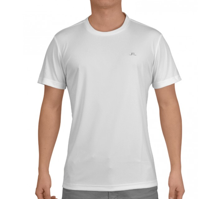 J. LINDEBERG SPORT TEE TX JERSEY WHITE - SS15