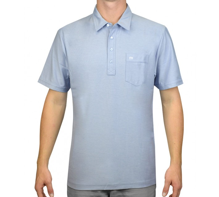 TRAVISMATHEW GOLF SHIRT STAPLE CASHMERE BLUE - AW15