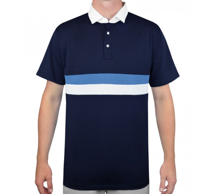 DEVEREUX ST. GERMAIN GOLF POLO NAVY/FRENCH BLUE - AW15