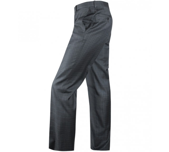 ARISTO 18 STIRLING FLAT FRONT TROUSER CHARCOAL/ATLANTIC - 2013