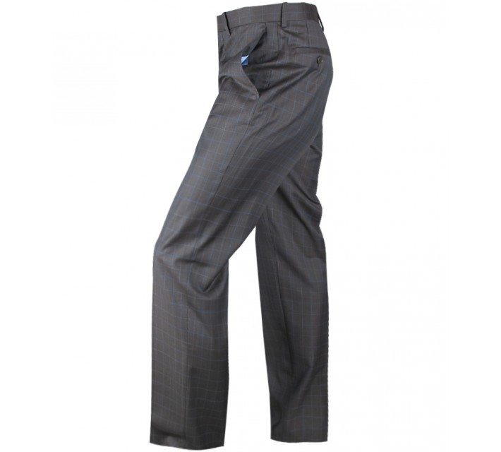 ARISTO 18 STIRLING FLAT FRONT TROUSER CHOCOLATE/ATLANTIC - 2013