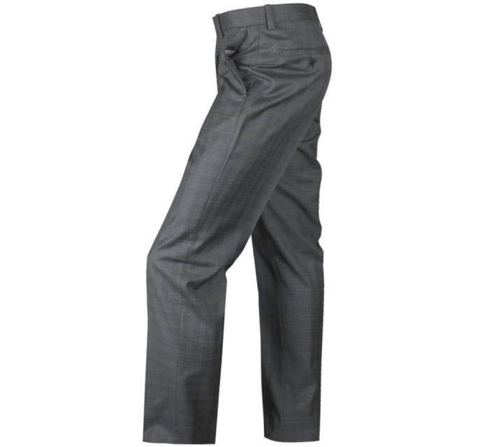 ARISTO 18 STIRLING FLAT FRONT TROUSER GREY/PEACH - 2013