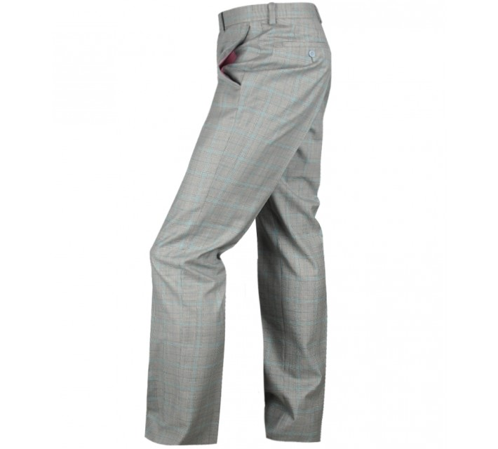 ARISTO 18 STIRLING FLAT FRONT TROUSER PEARL GREY/MINT - 2013