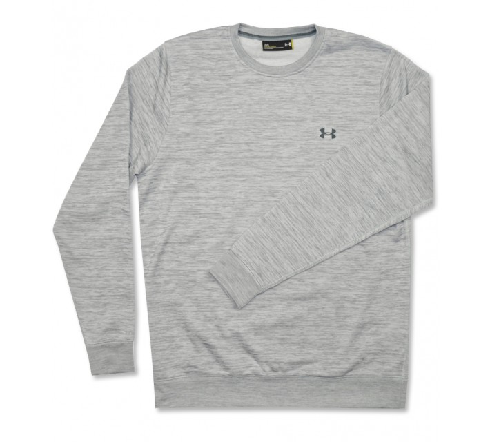 UNDER ARMOUR STORM FLEECE CREW TRUE GREY HEATHER - AW16