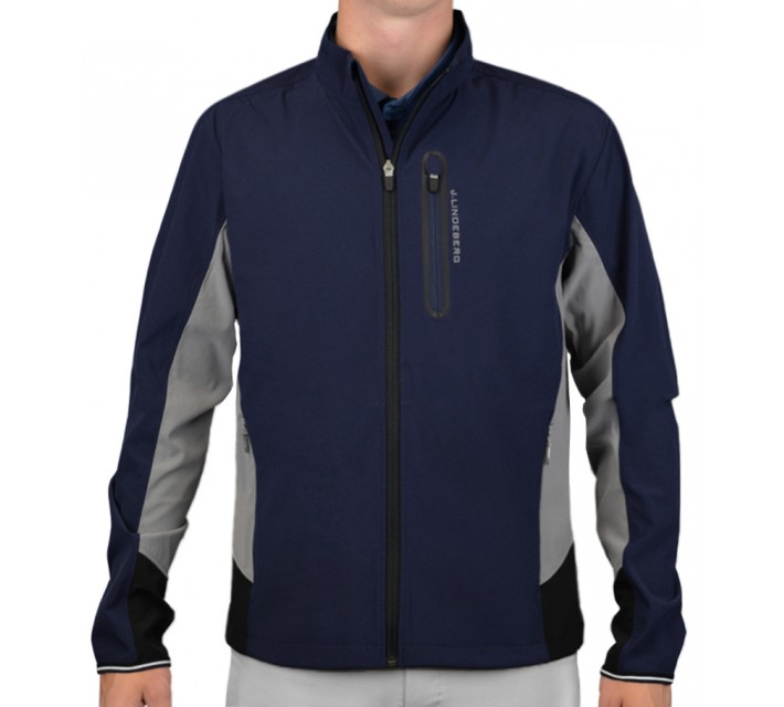 J. LINDEBERG STRETCH JACKET SOFT SHELL NAVY/PURPLE - AW15