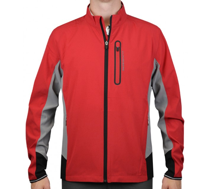 J. LINDEBERG STRETCH JACKET SOFT SHELL RED INTENSE - AW15