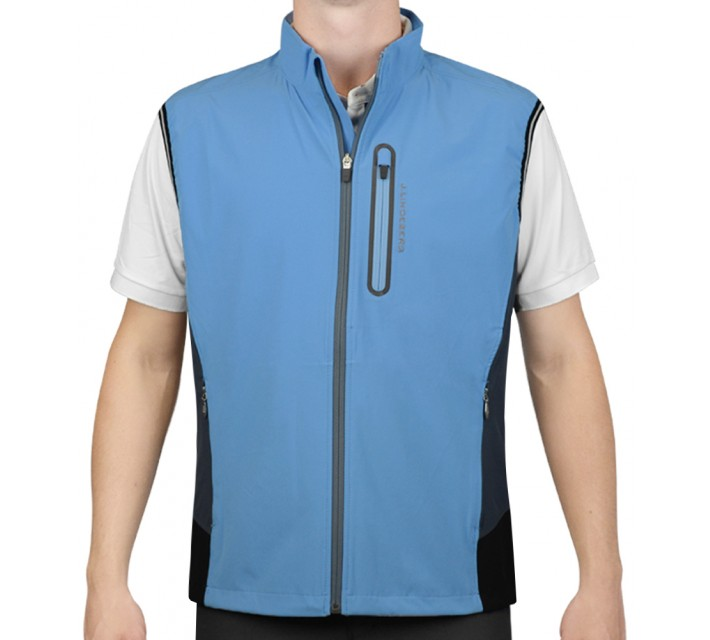J. LINDEBERG STRETCH VEST SOFT SHELL BLUE INTENSE - AW15