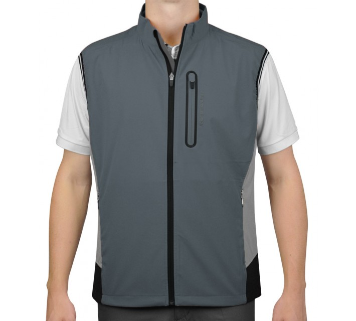 J. LINDEBERG STRETCH VEST SOFT SHELL DK GREY - AW15