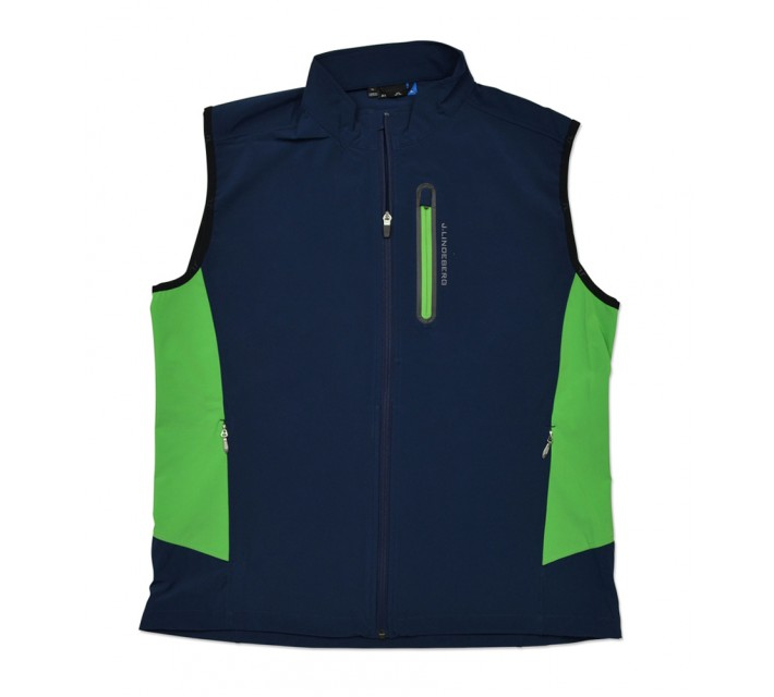 J. LINDEBERG STRETCH VEST SOFT SHELL NAVY/PURPLE - SS16