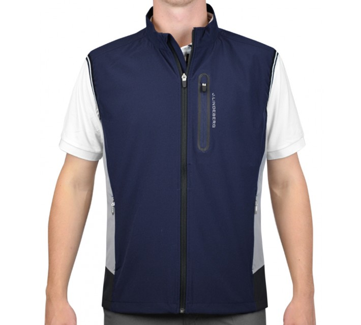 J. LINDEBERG STRETCH VEST SOFT SHELL NAVY/PURPLE - AW15