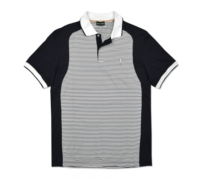 GOLFINO STRIPED DRY COMFORT POLO NAVY - SS16