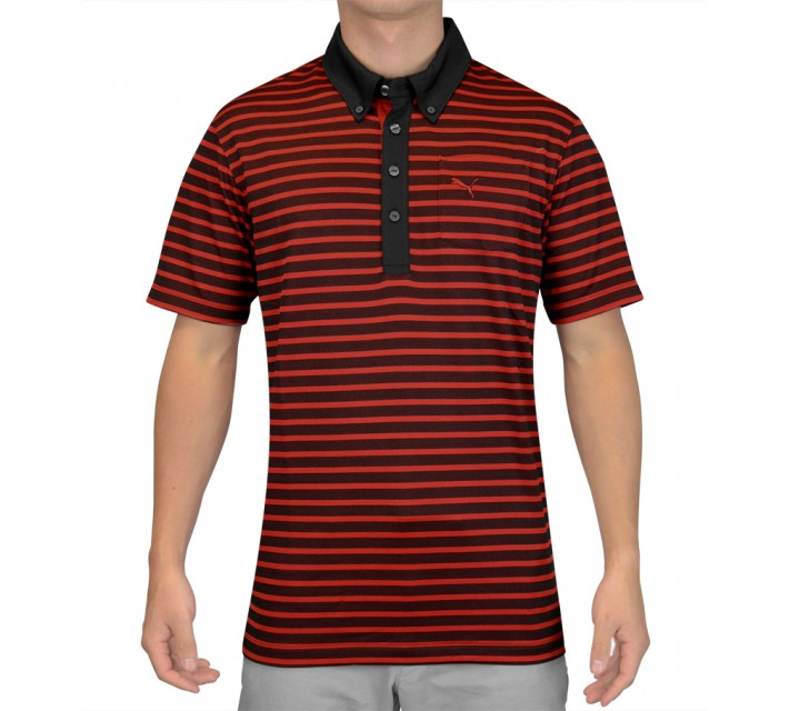 PUMA STRIPE POCKET POLO PUMA RED - SS15