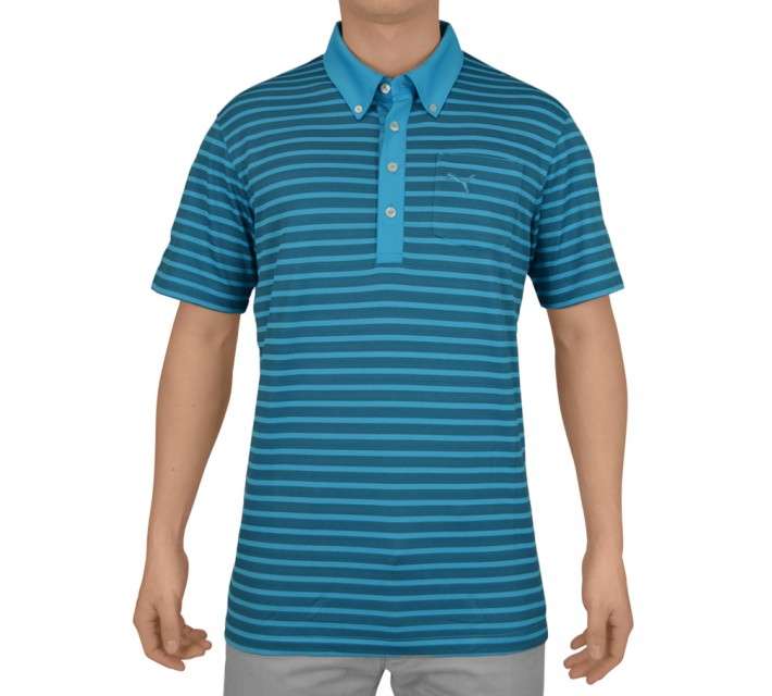 PUMA STRIPE POCKET POLO HAWAIIAN OCEAN - SS15