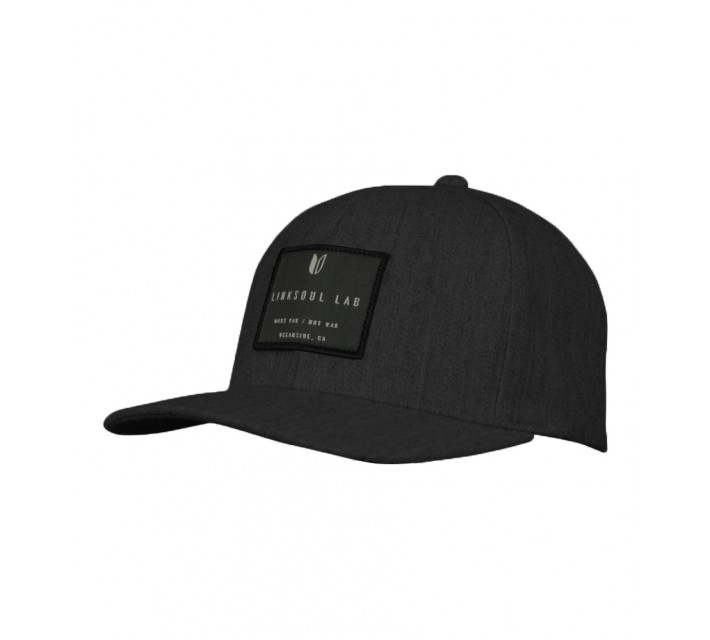 LINKSOUL STRUCTURED FLEXFIT HAT DARK HEATHER GREY - SS16