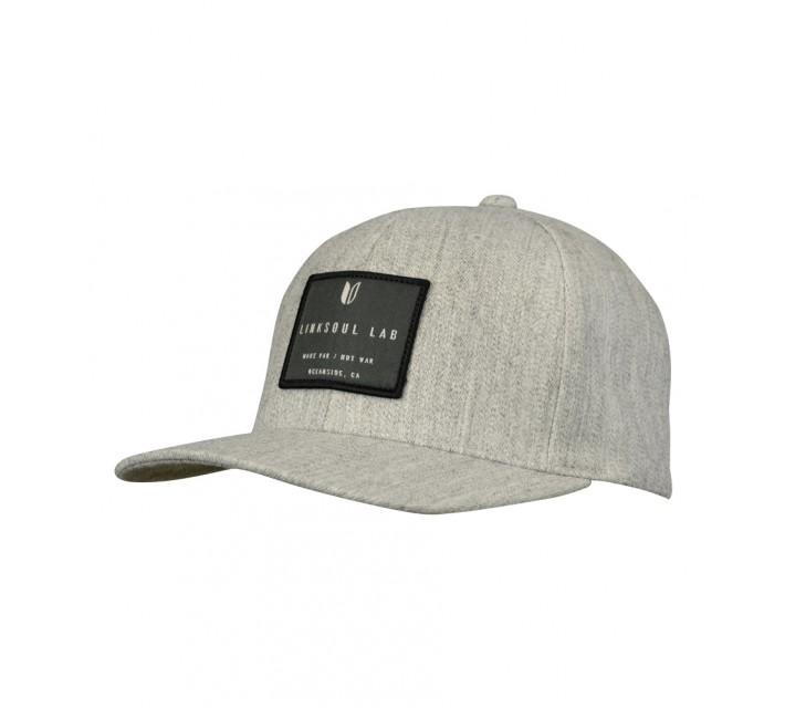LINKSOUL STRUCTURED FLEXFIT HAT LIGHT HEATHER GREY - SS16