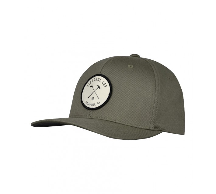 LINKSOUL STRUCTURED LAB HAT BLACK OIL OLIVE - AW16