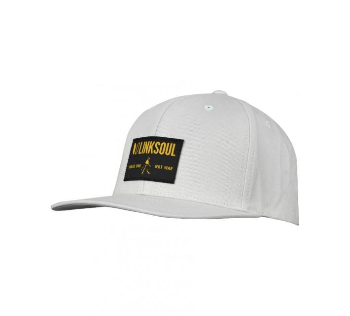 LINKSOUL STRUCTURED SNAP BACK HAT LIGHT GREY - SS16