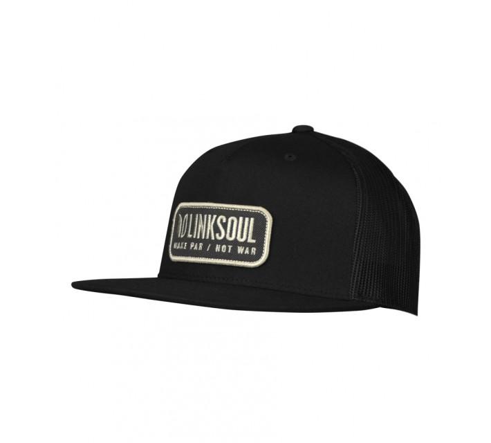 LINKSOUL STRUCTURED TRUCKER HAT BLACK - SS16