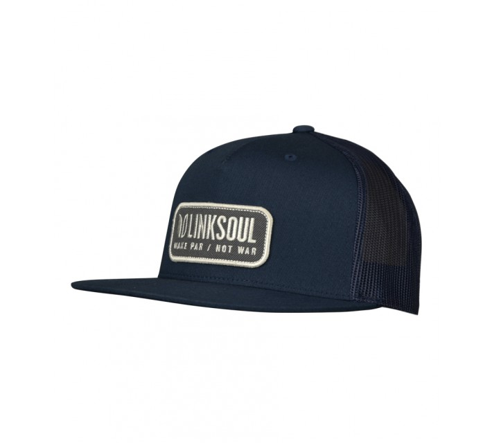 LINKSOUL STRUCTURED TRUCKER HAT NAVY - SS16