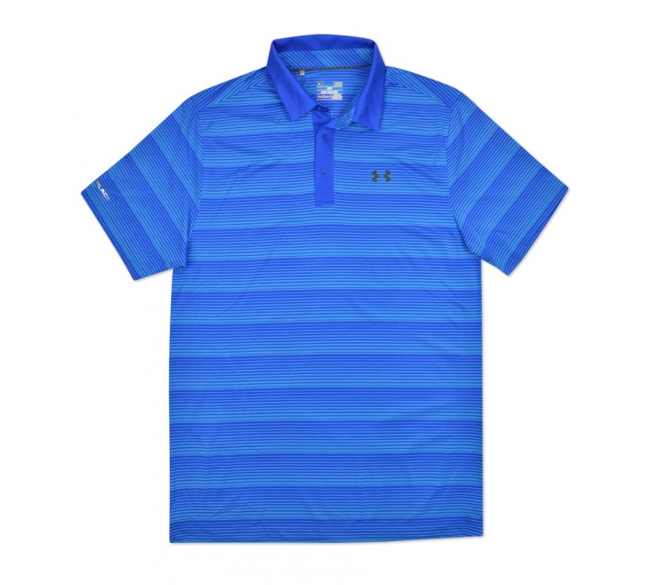 UNDER ARMOUR COLDBLACK CHIP IN STRIPE POLO ULTRA BLUE - SS16
