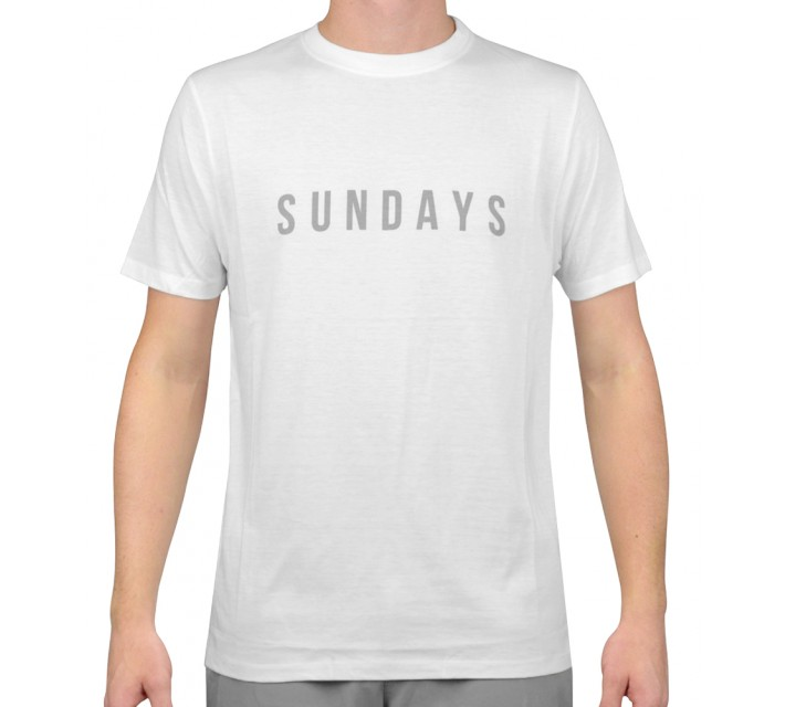 MATTE GREY SUNDAYS T-SHIRT WHITE - AW15