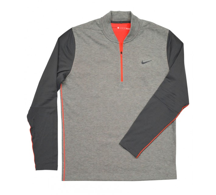 TIGER WOODS TECH PULLOVER 1/2 ZIP DARK GREY HEATHER - AW16