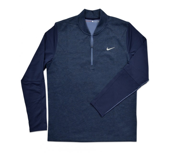 TIGER WOODS TECH PULLOVER 1/2 ZIP OBSIDIAN HEATHER - SS16 CLOSEOUT