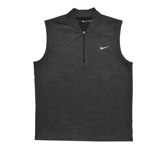 TIGER WOODS SWEATER TECH VEST BLACK HEATHER - AW16