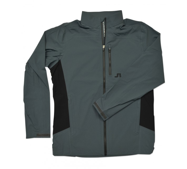 J. LINDEBERG SWING RAIN JACKET 2.5 PLY DARK GREY - SS16