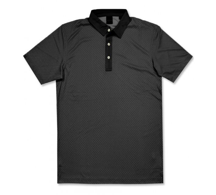 DUNNING TECHNICAL JAQUARD POLO BLACK - AW16