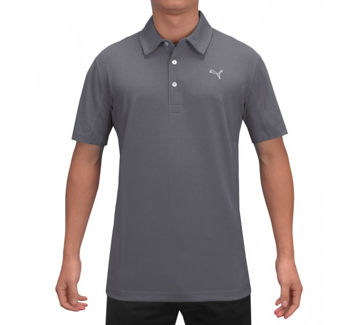 PUMA GOLF TECH POLO FOLKSTONE GREY - AW15