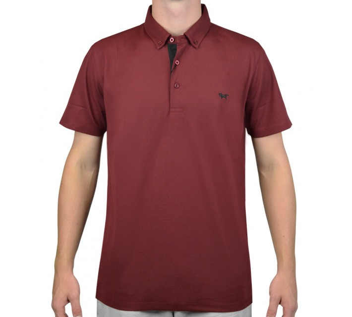 WOLSEY TEMPERATURE REGULATING PIQUE POLO BORDEAUX - AW15