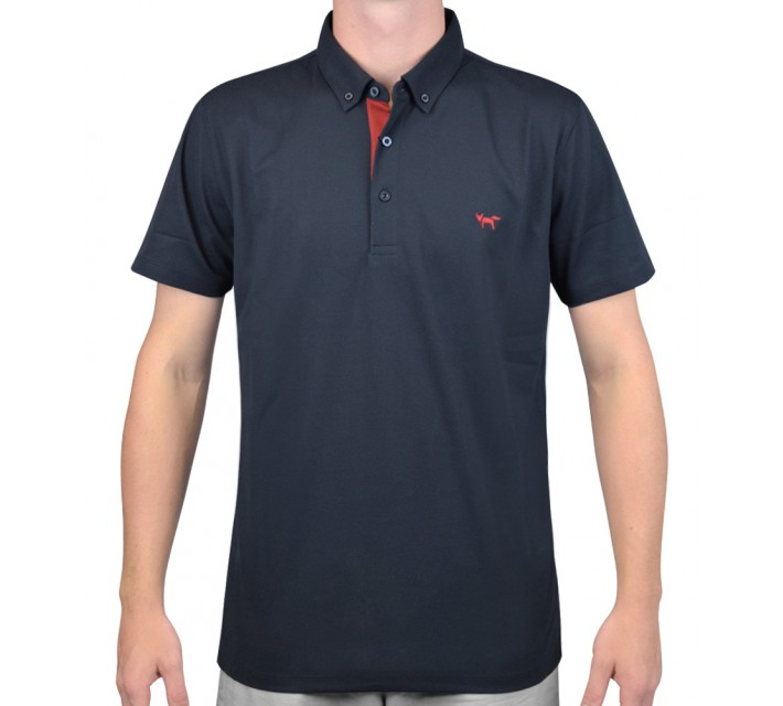 WOLSEY TEMPERATURE REGULATING PIQUE POLO TOTAL ECLIPSE - AW15