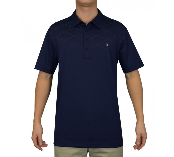 TRAVISMATHEW GOLF SHIRT TEMPEST IRIS - SS15