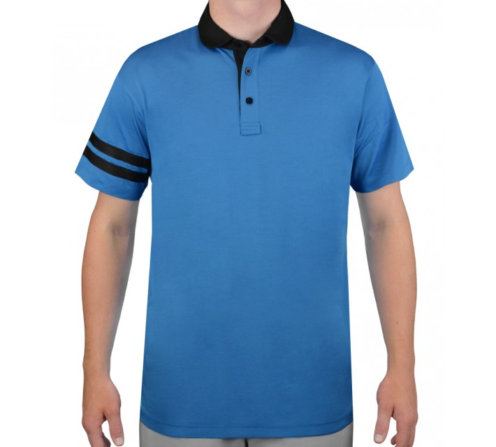 DEVEREUX THE DEVEREUX GOLF POLO FRENCH BLUE/CAVIAR - AW15