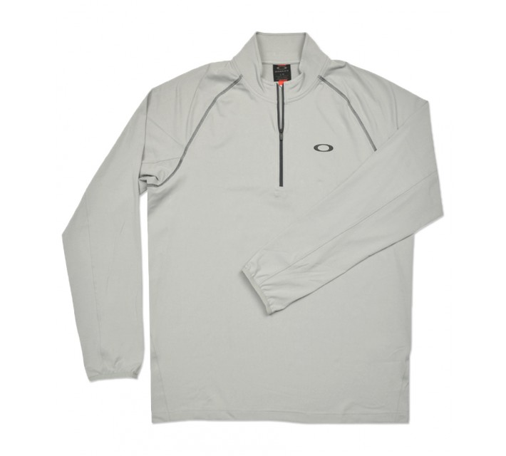 OAKLEY THEO 1/4 ZIP PULLOVER STONE GREY - SS16