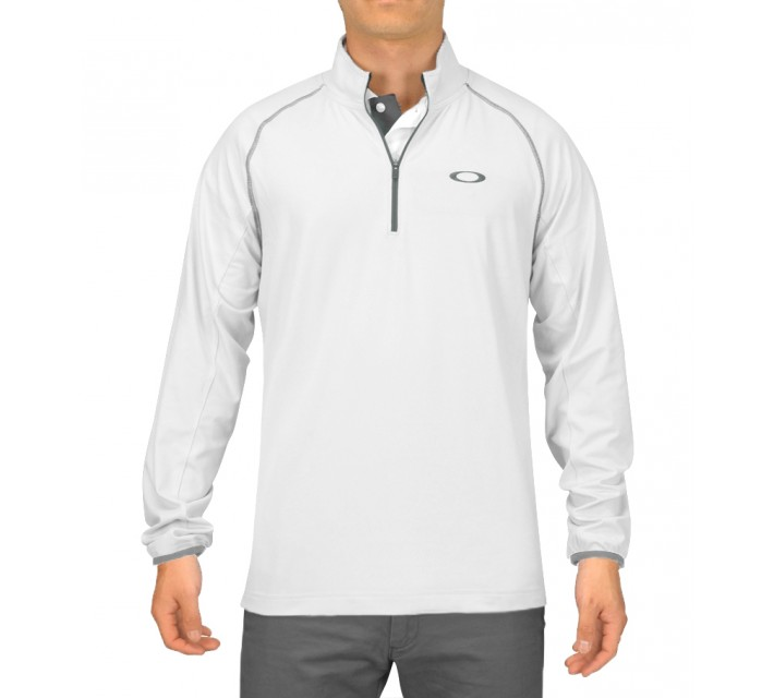 OAKLEY THEO 1/4 ZIP PULLOVER WHITE - SS16