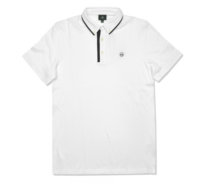 AG GREEN LABEL THE PAULSEN POLO BRIGHT WHITE - SS16
