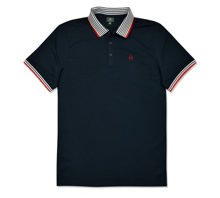 AG GREEN LABEL THE PETERSEN POLO NAVAL BLUE - SS16